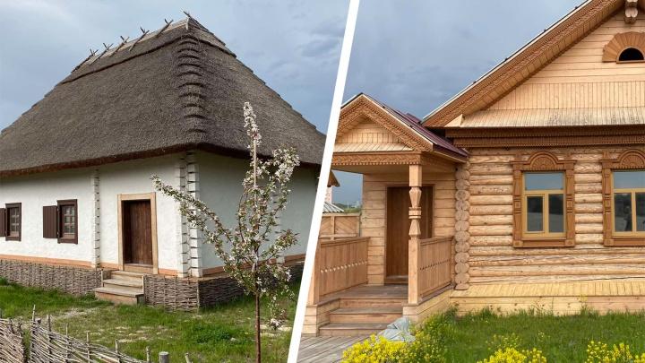 С национальным колоритом: в одном из парков Самары построили 20 домов народов региона