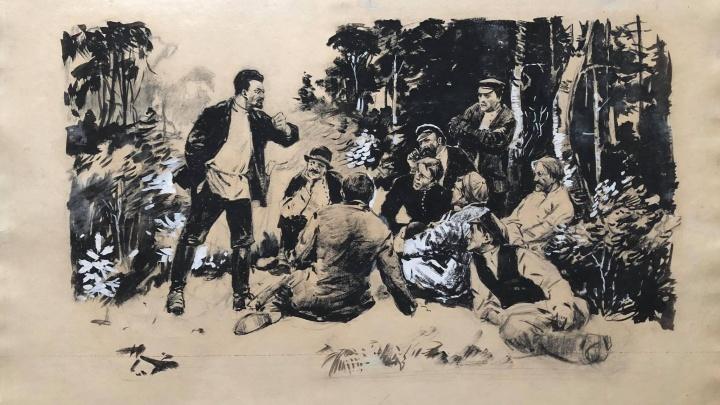 Екатеринбургскому музею подарили картину со Свердловым и еще сотню рисунков, которые считались утраченными