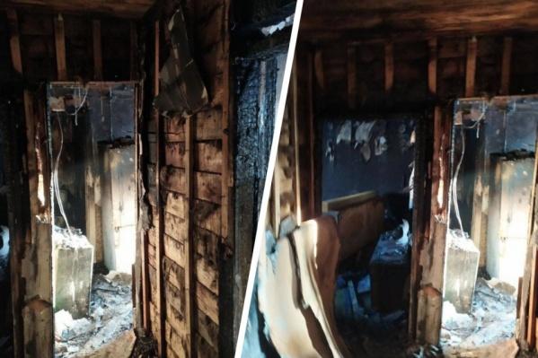 Низкое качество строения отчетливо просматратривается даже после пожара