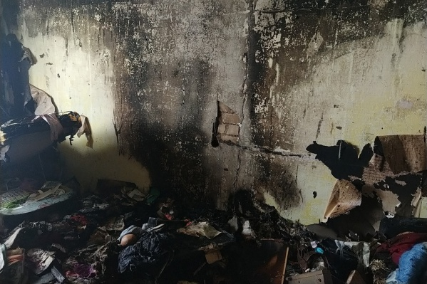 Одна из комнат полностью выгорела