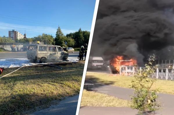 Огонь значительно повредил автомобиль
