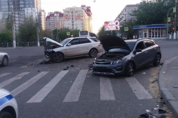 Пострадал в аварии только водитель KIA