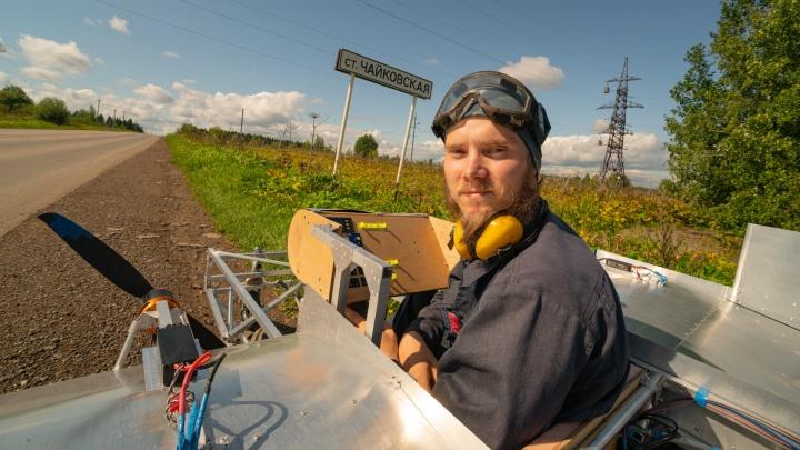 Умещается в коробку и взлетает с дорог: в Прикамье авиаконструктор-самоучка строит «летающие автомобили»