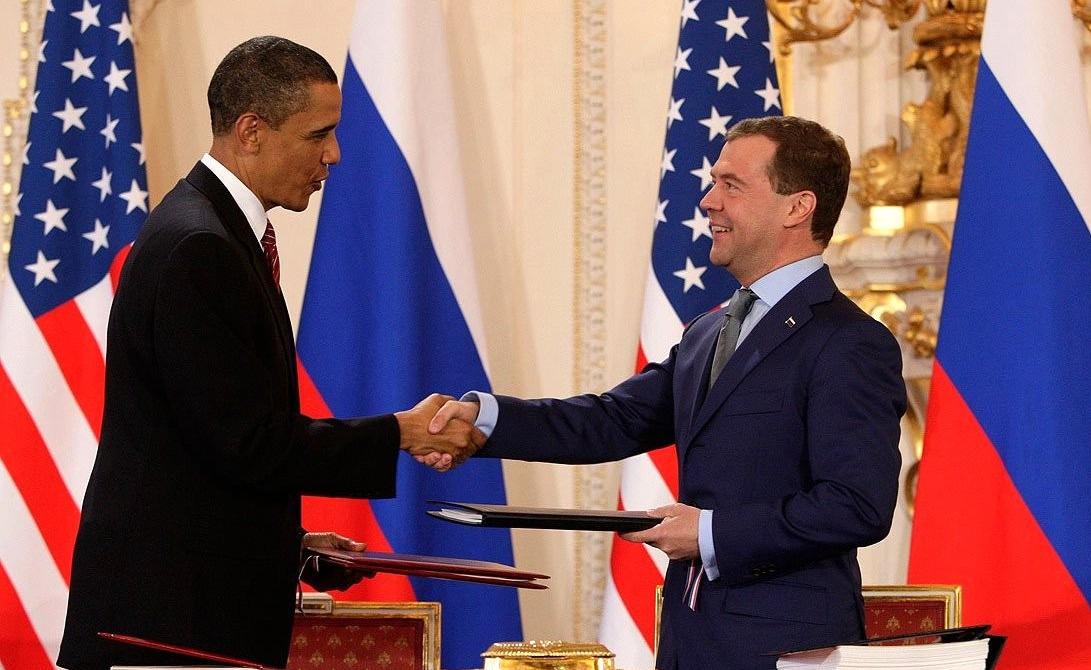 Подписание российско-американского Договора о сокращении и ограничении СНВ. Прага, 8 апреля 2010 года
