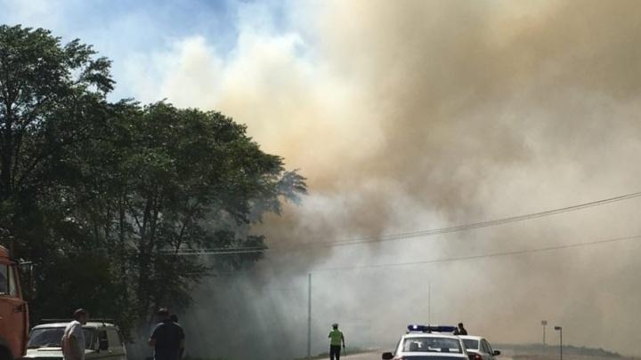 Въезд в Ишимбай перекрыли из-за  пожара