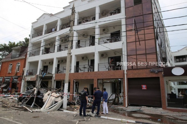Взрыв случился рано утром в центре Геленджика
