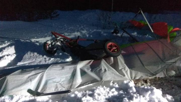 В Челябинской области разбился пилот дельталета