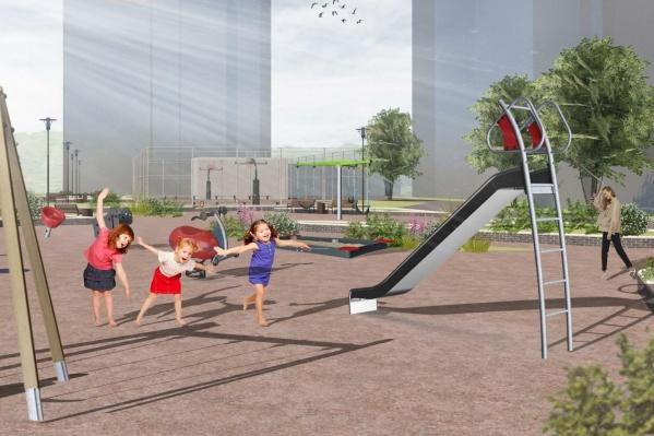 Для самых маленьких жителей Солнечного сделают новые детские площадки
