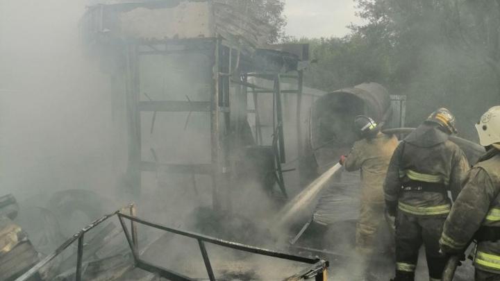 В Самаре произошел пожар на АГЗС, есть пострадавший