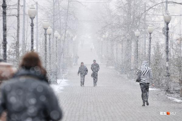 Первый снег в городе выпадет уже в эту субботу, но почти сразу растает