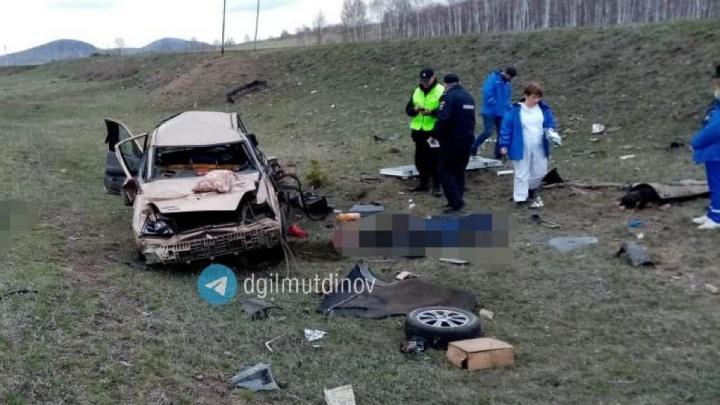 В Башкирии водитель на Daewoo Nexia погиб в ДТП сам и угробил двух пассажиров
