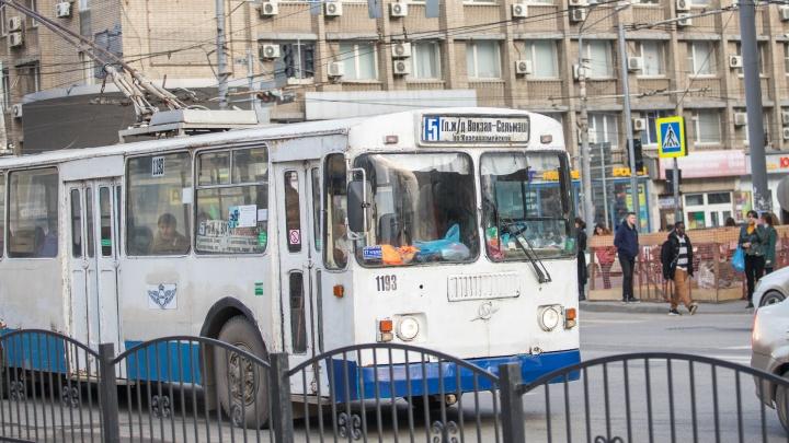 В Ростове временно закрыли два троллейбусных маршрута