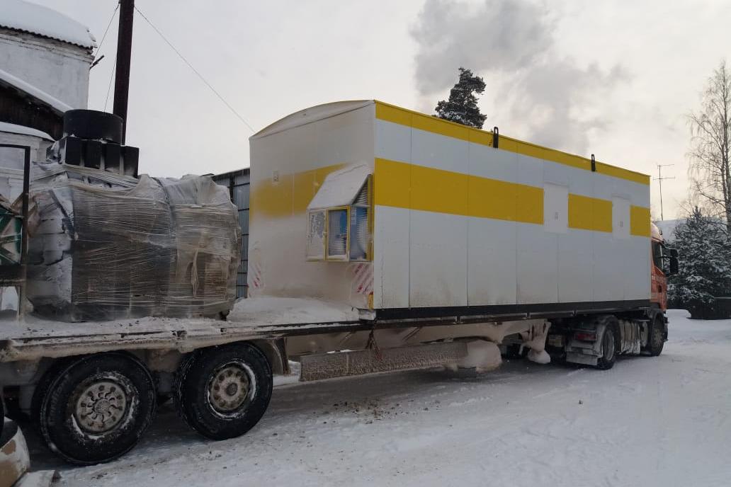 Новое здание прибыло в Шенкурск из Удмуртии