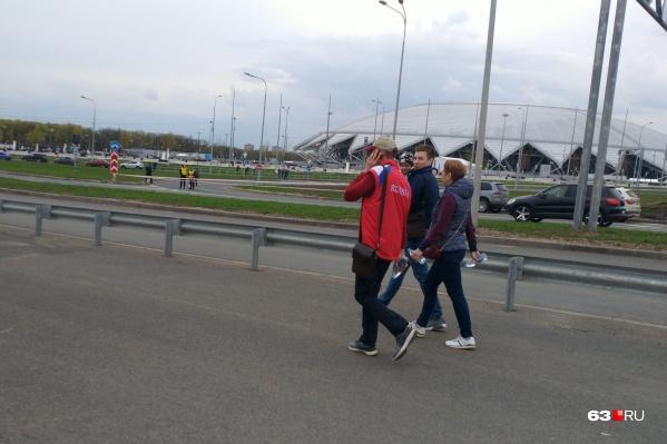 С остановок к стадиону придется дойти пешком
