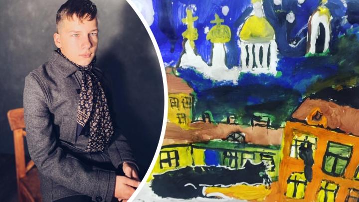 Космос и портрет Гагарина. Как рисует мир мальчик с тяжелыми нарушениями речи