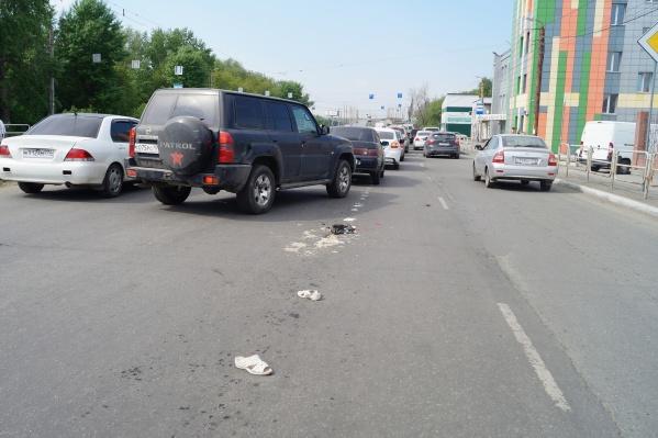 Авария произошла недалеко от Каслинского рынка
