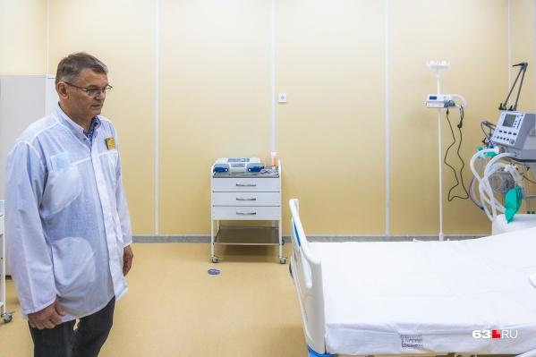 Вот так выглядят места для больных коронавирусом в новом корпусе Середавина