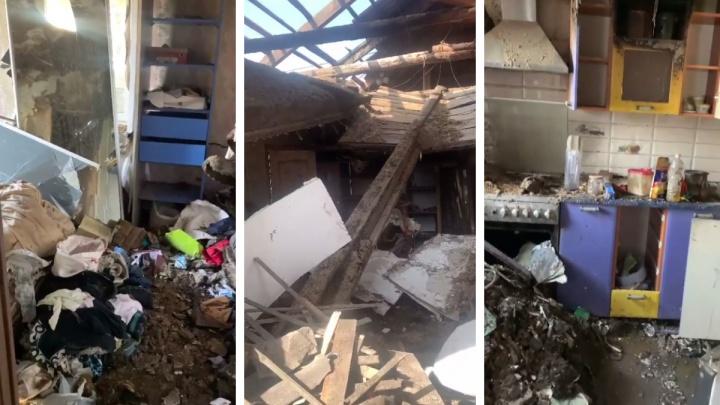 Семья в Красноярске лишилась дома и вещей из-за взрыва газа