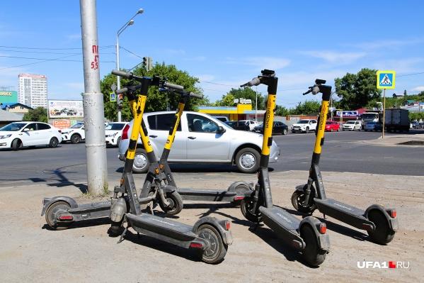 В Уфе крепко прижился тренд на использование электросамокатов
