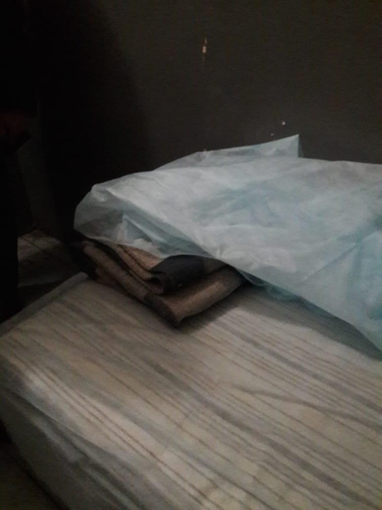 Так выглядит постель для задержанных