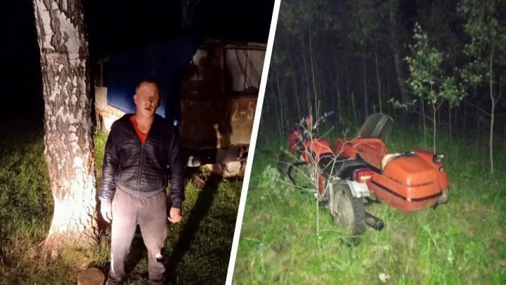 В Тюменской области пьяный мотоциклист сбил школьницу и прятался от полицейских в лесу