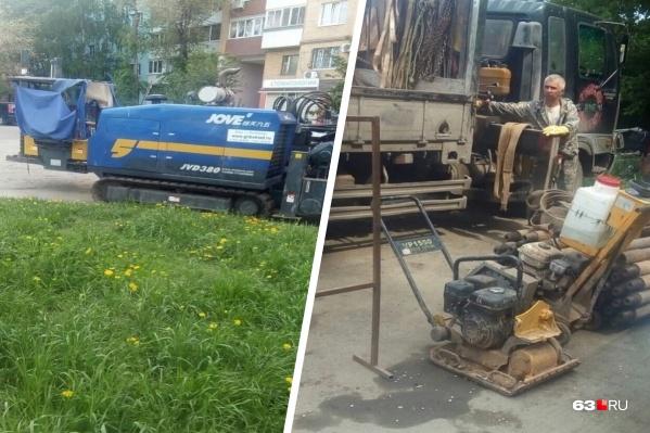 По словам горожан, строители уже выгрузили необходимое оборудование