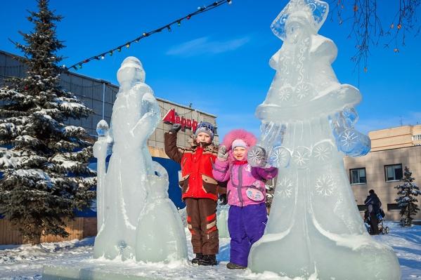 Мэрия планирует установить как минимум 7 ледяных Дедов Морозов и Снегурочек