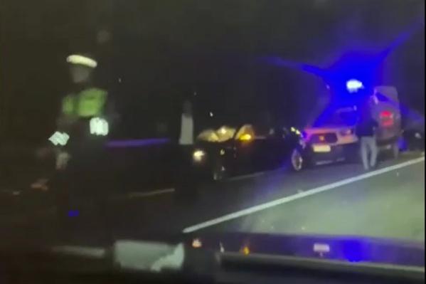 Авария произошла в Сочи на трассе Адлер — «Альпика-Сервис»