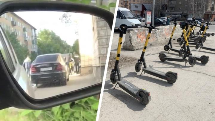 В Новосибирске мужчина попытался украсть электросамокаты с помощью глушилок GPS, но попался полиции