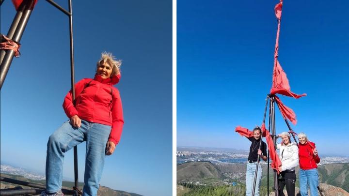 «Это восторг!»: красноярка на свое 80-летие покорила Такмак