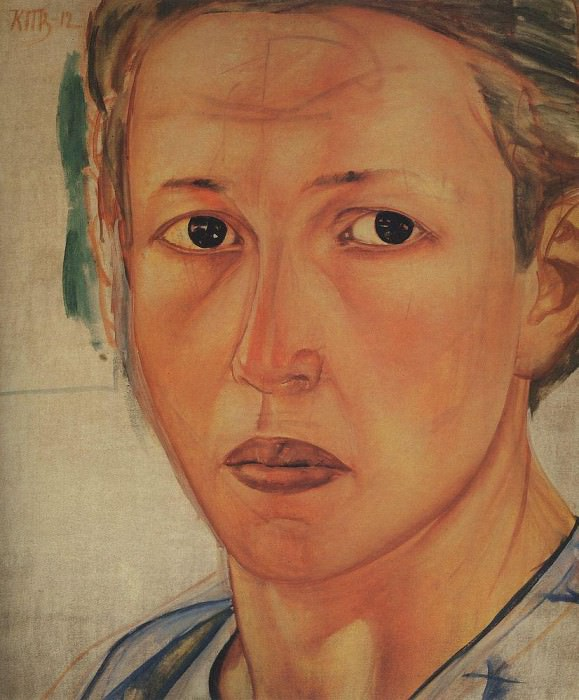 Кузьма Петров-Водкин «Портрет Натальи Грековой». Подросшая Ольга будет на нее очень похожа