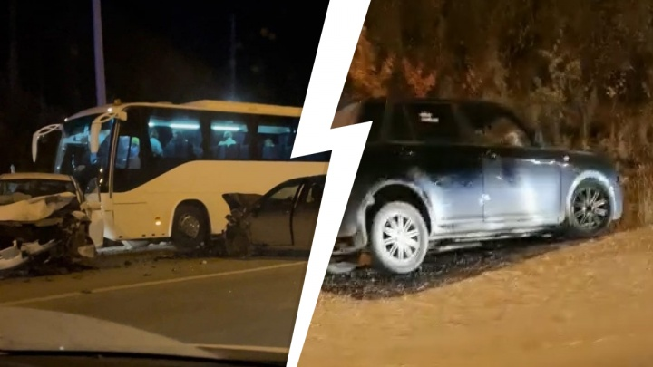 На Пермском тракте произошло ДТП с автобусом и тремя автомобилями. Трасса встала в огромной пробке