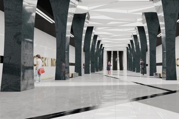 Предполагается, что так будет выглядеть станция в центре города