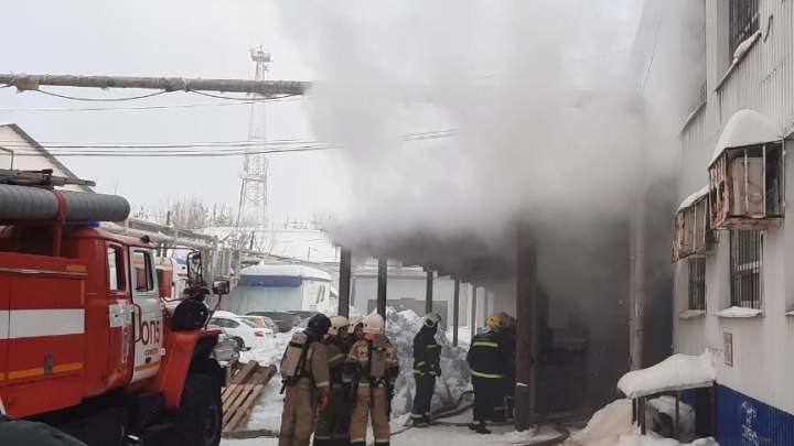 В Самаре на складе с лекарствами произошел пожар