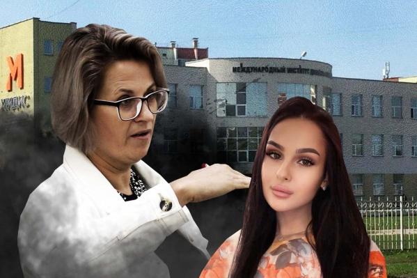 Студентка колледжа МИДИС Анастасия (справа) уверяет, что чувствует давление со стороны куратора своей группы