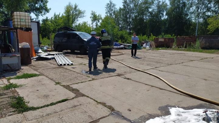В Уфе при взрыве газового баллона в пункте сбора металла погиб мужчина