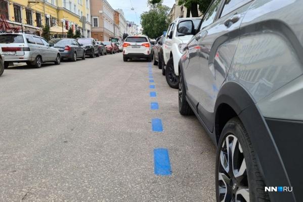 Водители могут увидеть синюю разметку на улице Пискунова