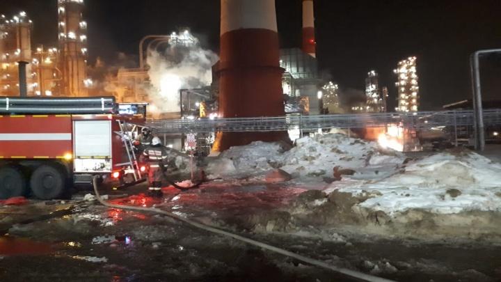Стали известны подробности пожара на Уфимском нефтеперерабатывающем заводе