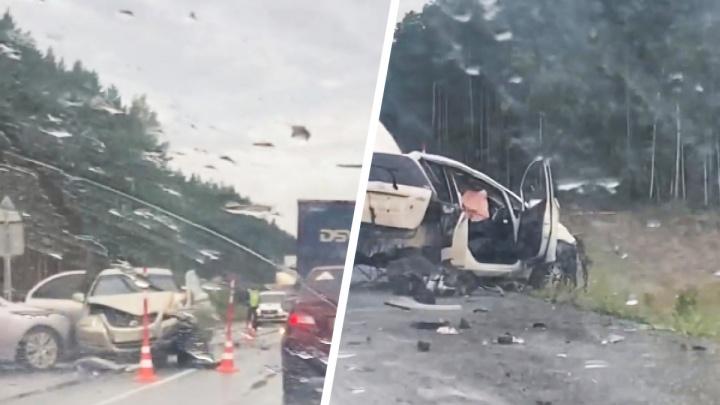 Водитель Honda спровоцировала массовое ДТП под Тюменью. Четверо пострадали