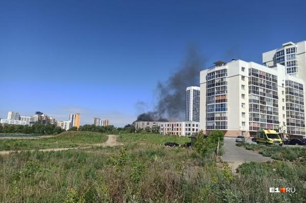 Площадь пожара — 140 квадратных метров