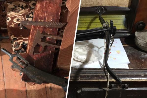 В мастерских переделывали гражданское оружие в боевое