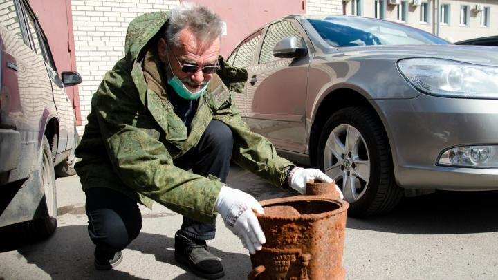 Печка из Норвегии и весы из СССР: архангелогородец откопал артефакты, пока искал металлолом