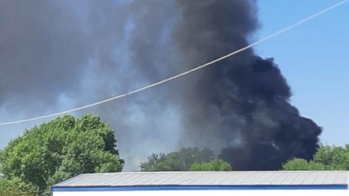 Уфимцев напугал черный густой дым в районе морга на Цветочной