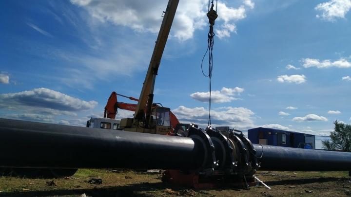 В Северном районе Кургана закончили ремонт водопровода
