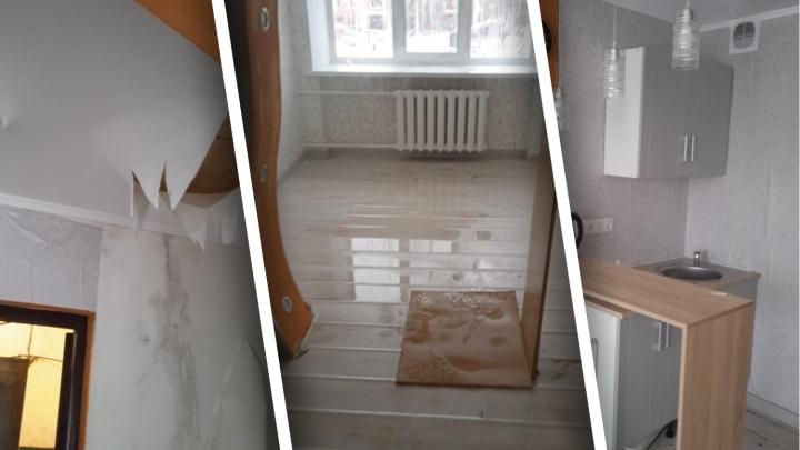 В тюменской многоэтажке на Одесской квартиры залило кипятком