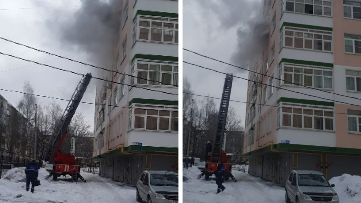 Людей выводили в дыму: на Наумова загорелась квартира в новостройке