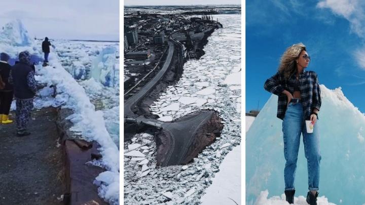 В Дудинке начался ледоход — одно из красивейших явлений на Таймыре