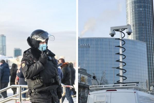 Используются нагрудные камеры и профессиональное оборудование, установленное на автомобиль ФСБ