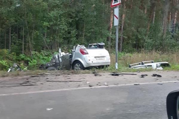 Авария произошла в 17:05