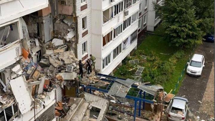 В Подмосковье взрыв газа разрушил несколько этажей жилого дома